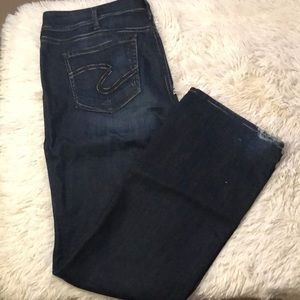 Silver jeans Suki dark high rise denim